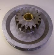 "Aluminium Chainwheel, 7"",  c/w 18T 6DP steel gear (both products specs. as available separately)"